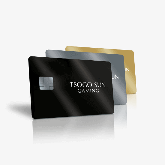 All New Tsogo Sun Gaming Rewards Cards combined
