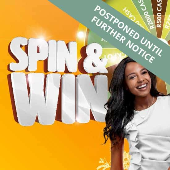 Postponed until further notice - Spin & Win