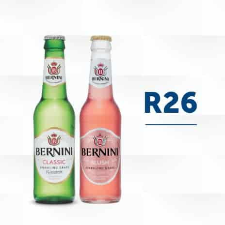 Bernini Blush & Classic bottles on display with the price square image