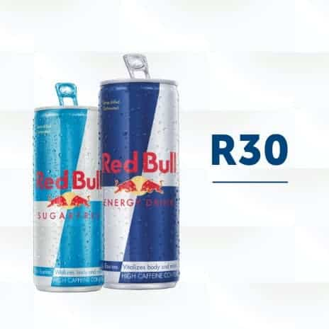 Red Bulls can and price on display square image